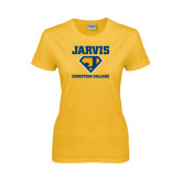 Ladies Gold T Shirt-Super J