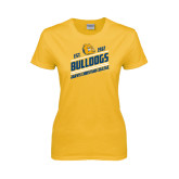 Ladies Gold T Shirt-Est. 1912 Bulldogs