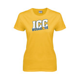 Ladies Gold T Shirt-JCC Bulldogs