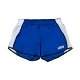 Ladies Royal/White Team Short-Jarvis Christian College - Institutional Mark