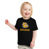 Toddler Black T Shirt-Jarvis Chrsitian College Bulldogs w/ Major Stacked