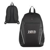 Atlas Black Computer Backpack-Jarvis Christian College - Institutional Mark