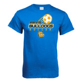 Royal T Shirt-Soccer Ball Stacked Desgin