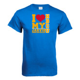Royal T Shirt-I Heart My HBCU Jarvis