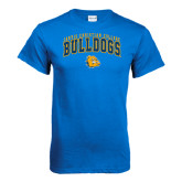 Royal T Shirt-Arched Jarvis Chrsitian Bulldogs w/ Major