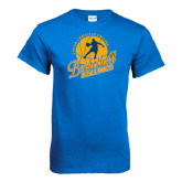 Royal T Shirt-Basketball w/ Player in Ball Design