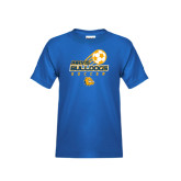 Youth Royal T Shirt-Soccer Ball Stacked Desgin
