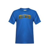 Youth Royal T Shirt-Arched Jarvis Christian College Bulldogs