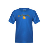 Youth Royal T Shirt-Arched Jarvis Christian College - Script