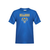 Youth Royal T Shirt-Basketball in Ball Design