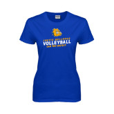 Ladies Royal T Shirt-Can You Dig It - Volleyball Design