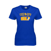 Ladies Royal T Shirt-Tee Off Golf Design
