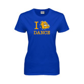 Ladies Royal T Shirt-I Love Dance Design