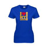 Ladies Royal T Shirt-I Heart My HBCU Jarvis