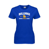Ladies Royal T Shirt-Go Blue . Go Gold . Go JCC
