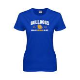 Ladies Royal T Shirt-Go Blue . Go Gold . Go JCC