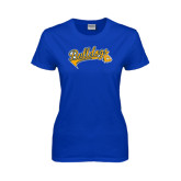Ladies Royal T Shirt-Scripted Bulldogs w Major