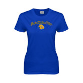 Ladies Royal T Shirt-Arched Jarvis Christian College - Script