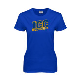 Ladies Royal T Shirt-JCC Bulldogs
