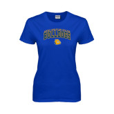 Ladies Royal T Shirt-Arched Jarvis Chrsitian Bulldogs w/ Major