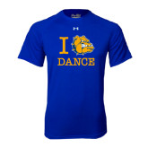 Under Armour Royal Tech Tee-I Love Dance Design