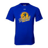 Under Armour Royal Tech Tee-Basketball w/ Player in Ball Design