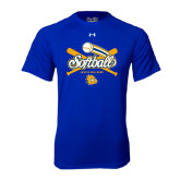 Under Armour Royal Tech Tee-Crossed Bats Softball Design