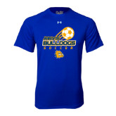Under Armour Royal Tech Tee-Soccer Ball Stacked Desgin