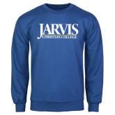 Royal Fleece Crew-Jarvis Christian College - Institutional Mark