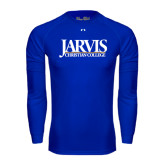 Under Armour Royal Long Sleeve Tech Tee-Jarvis Christian College - Institutional Mark
