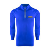 Under Armour Royal Tech 1/4 Zip Performance Shirt-Arched Jarvis Christian College Bulldogs