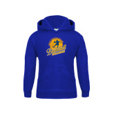 Youth Royal Fleece Hoodie-Basketball w/ Player in Ball Design