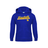 Youth Royal Fleece Hoodie-Baseball Bat Design