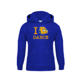 Youth Royal Fleece Hoodie-I Love Dance Design