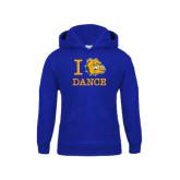 Youth Royal Fleece Hoodie-I Love Dance Design