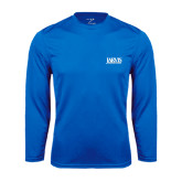 Syntrel Performance Royal Longsleeve Shirt-Jarvis Christian College - Institutional Mark