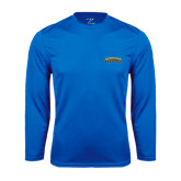 Syntrel Performance Royal Longsleeve Shirt-Arched Jarvis Christian College Bulldogs
