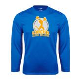 Syntrel Performance Royal Longsleeve Shirt-Cheer Design