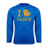 Syntrel Performance Royal Longsleeve Shirt-I Love Dance Design