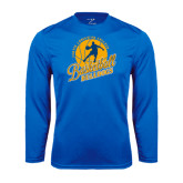 Syntrel Performance Royal Longsleeve Shirt-Basketball w/ Player in Ball Design