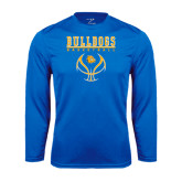 Syntrel Performance Royal Longsleeve Shirt-Basketball in Ball Design