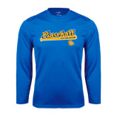 Syntrel Performance Royal Longsleeve Shirt-Baseball Bat Design