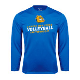 Syntrel Performance Royal Longsleeve Shirt-Can You Dig It - Volleyball Design