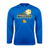 Syntrel Performance Royal Longsleeve Shirt-Soccer Ball Stacked Desgin