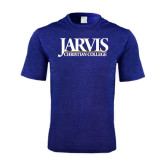 Performance Royal Heather Contender Tee-Jarvis Christian College - Institutional Mark