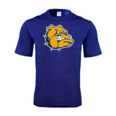Performance Royal Heather Contender Tee-Major - Bulldog Head