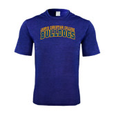 Performance Royal Heather Contender Tee-Arched Jarvis Christian College Bulldogs