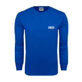Royal Long Sleeve T Shirt-Jarvis Christian College - Institutional Mark