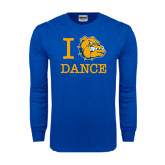 Royal Long Sleeve T Shirt-I Love Dance Design