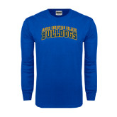 Royal Long Sleeve T Shirt-Arched Jarvis Christian College Bulldogs